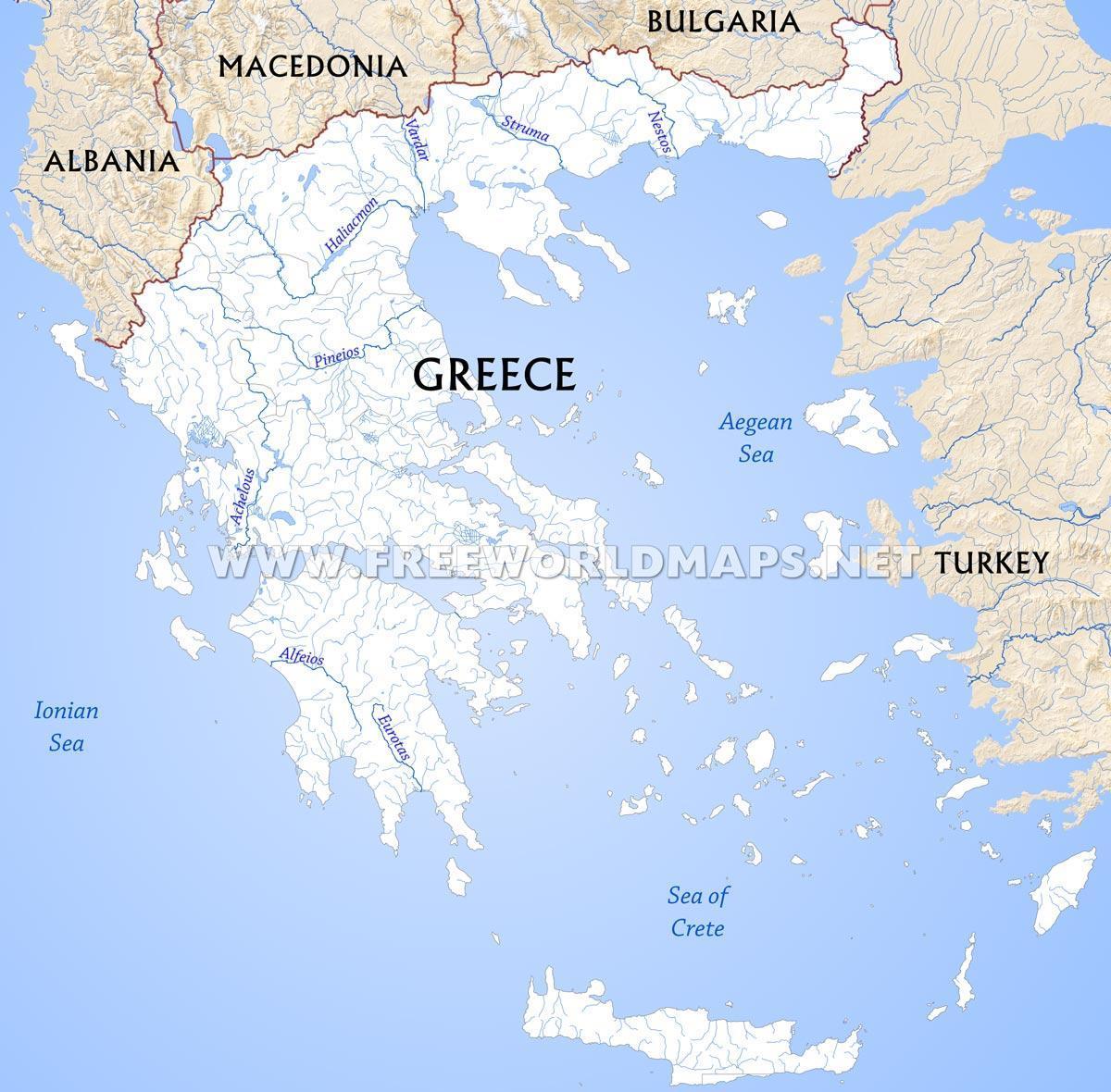 Reki Grecii Karta Reki Grecii Karta Yuzhnaya Evropa Evropa